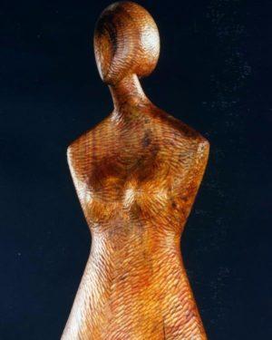 Natural Wood Color Sculpture