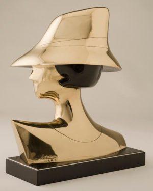 Polished Bronze Sculpture